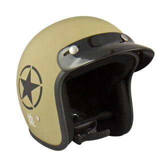 Speedy Riders ISI Certified Guardian Open Face Helmet Matte Desert Storm Color