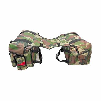 Speedy Riders Customized Double Side Hanging Saddle Bag For Touring Military Print For Royal Enfield Harley Davidson