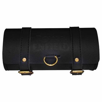 Speedy Riders Back Seat Round Saddle Bag Black Color Medium Size for Royal Enfield Motorcycles