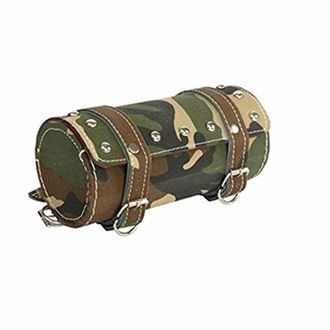 Speedy Riders Customized Round Military Print Saddle Bag For Royal Enfield Classic