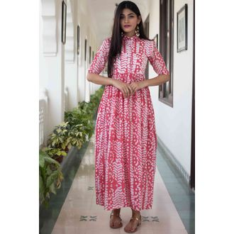 Red Batik Dress