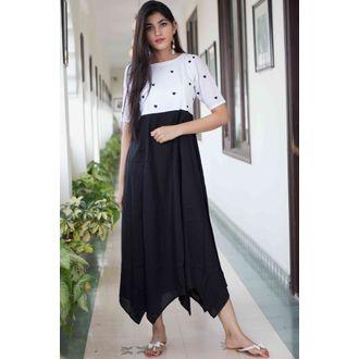 Black Heart Motif Dress