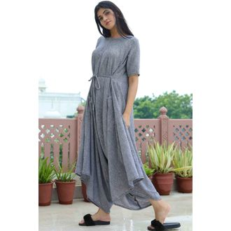 Grey Drop Crotch Jumpsuit