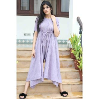 Purple DropCrotch Jumpsuit