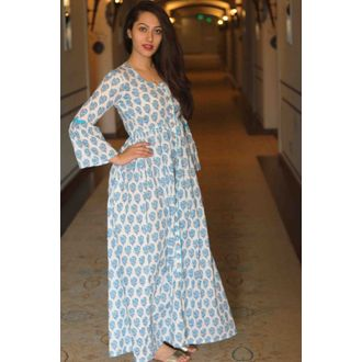 Blue Block Cape Maxi