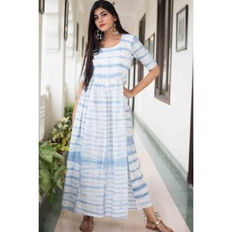 Light Blue Tiedye Dress