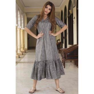 Frill Grey Dress