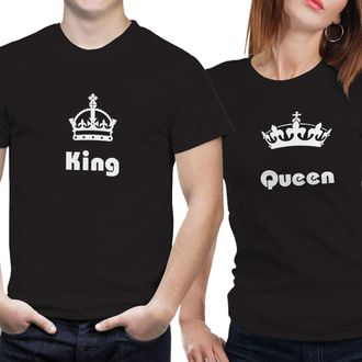 6e0faf9f56 sold-out-image POLYESTER DRY FIT COUPLE T SHIRTS- KING QUEEN-05 (BLACK)