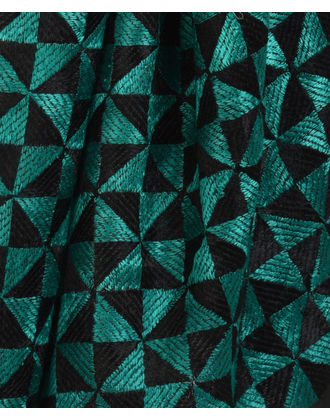 Black Intricate Phulkari Hand Embroidered Dupatta with Suit