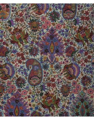 Ivory Pure Pashmina Jamawar Kalamkari & Sozni Outline Embroidered Shawl