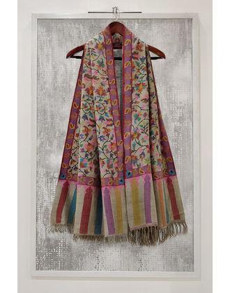 Natural Pure Kashmir Pashmina Kani Jamawar Weave Shawl