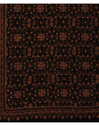 Black Pure Pashmina Jamawar Sozni Hand Embroidered Men's Shawl