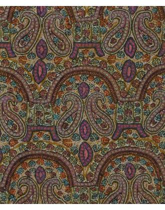 Mustard Papier Mache Hand Embroidered Jamawar Pure Pashmina Shawl