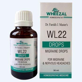 Wheezal WL 22 Homeopathic Migraine drops  - Relieves Nausea, Dizziness, Fatigue