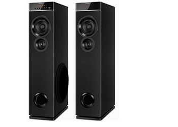 Philips SPT-6660 2.0 Channel Tower Speakers (Black)