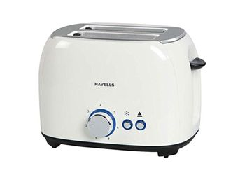 Havells Crust 800-Watt Pop-up Toaster (White)