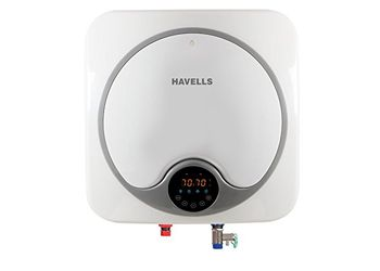 Havells Quatro Digital 15-Litre Storage Water Heater (White/Gray)
