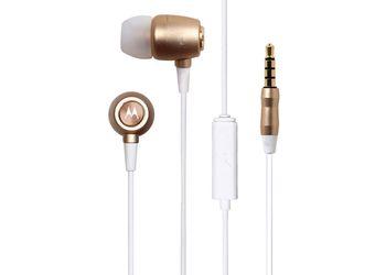 Motorola Earbuds Studio In-Ear Headphones (Gold)