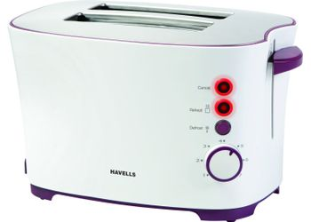 Havells Feasto 850-Watt Pop-up Toaster (White)