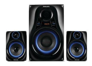 Philips Philips MMS2580B Portable Bluetooth Home Audio Speaker  (Black, 2.1 Channel)