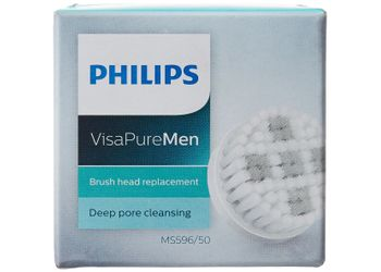 Philips Visa Pure MS596/50 Men Brush Head Replacement for Deep Pore (Gray/White)