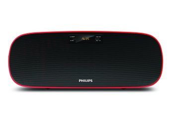 Philips MMS2140B Compact Home Audio Speakers Black, 2.1 Channel with BT, USB, FM, AUX (Unboxed)