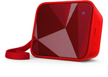 Philips BT110R/00 Splash-Proof Wireless Portable Bluetooth Speaker (Red)
