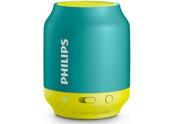 Philips BT50A Portable Bluetooth Mobile/Tablet Speaker  (Green Yellow, 1 Channel) (Unboxed)
