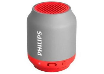 Philips BT50G Portable Bluetooth Mobile/Tablet Speaker  (Red, 1 Channel) (Unboxed)