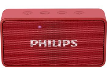 Philips BT64R/94 Portable Bluetooth Mobile/Tablet Speaker  (Red, 1 Channel) (Unboxed)