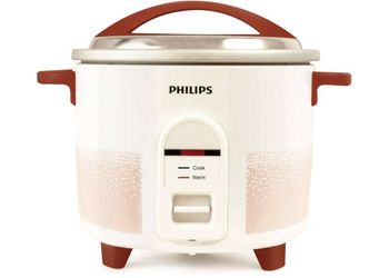 Philips HL1665/00 Electric Rice Cooker  (1.8 L, White, Red)