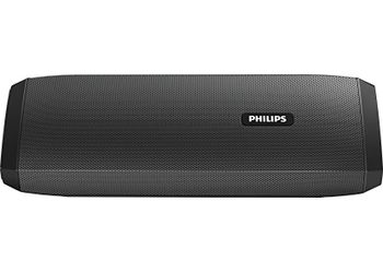 Philips IN-BT120/94 Portable Bluetooth Mobile/Tablet Speaker  (Black, Stereo Channel)