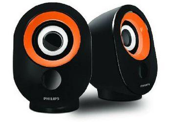 Philips IN-SPA50G/94 Laptop/Desktop Speaker  (Orange, 2.0 Channel) Unboxed