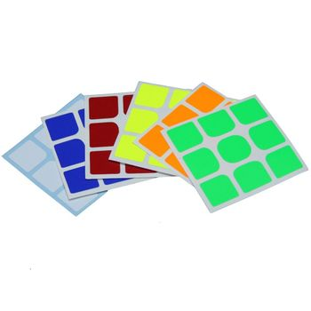 Cubicle 3x3 Half Bright Sticker Set 57mm - Yuxin