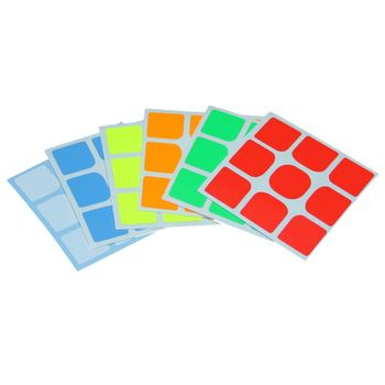 Cubicle 3x3 Full Bright Sticker Set 57mm - GuanLong Full Fitted