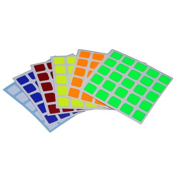 Cubicle 5x5  Half Bright Sticker Set 63mm - AoChuang