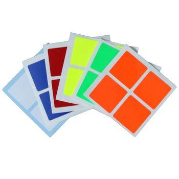 Cubesmith 2x2 Half-Bright Sticker Set
