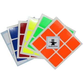 Cubesmith 3x3 Half-Bright Sticker Set Standard Size