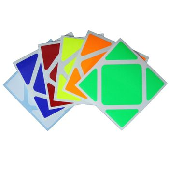 Cubicle Skewb Half Bright Sticker Set 57mm-MoYu