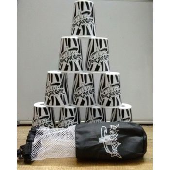 YJ Stacking Cups with Bag - White