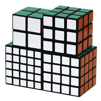 ShengShou Set of 2x2 3x3 4x4 5x5 Black