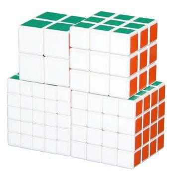 ShengShou Set of  2x2 3x3 4x4 5x5 White