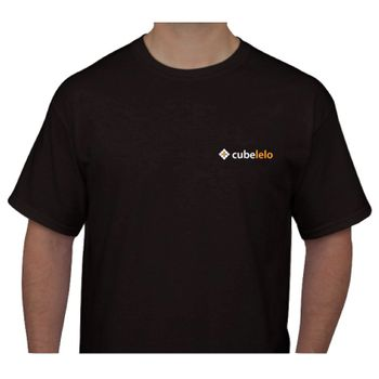 Cubelelo Round Neck T-shirt Black