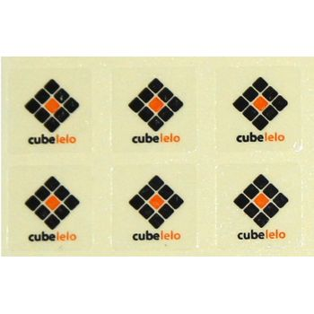 Cubelelo Logo Sticker- Set of 6