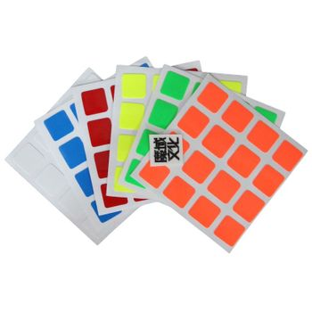 Moyu 4x4 Half Bright Sticker set