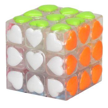 YJ Heart Shape 3x3 Tiled White