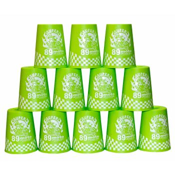 YJ Stacking Cups with Bag - Green