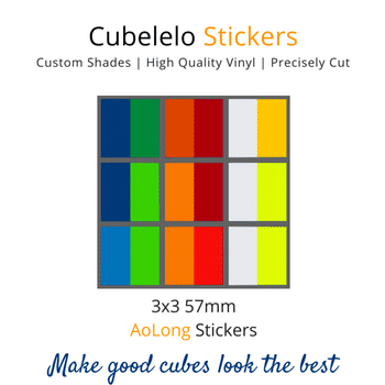 Cubelelo 3x3 57mm AoLong Stickers