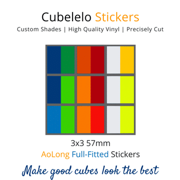Cubelelo 3x3 57mm AoLong Full Fitted Stickers