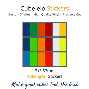 Cubelelo 3x3 56mm AoLong GT Stickers